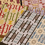 Patterned Response greeting cards, detail