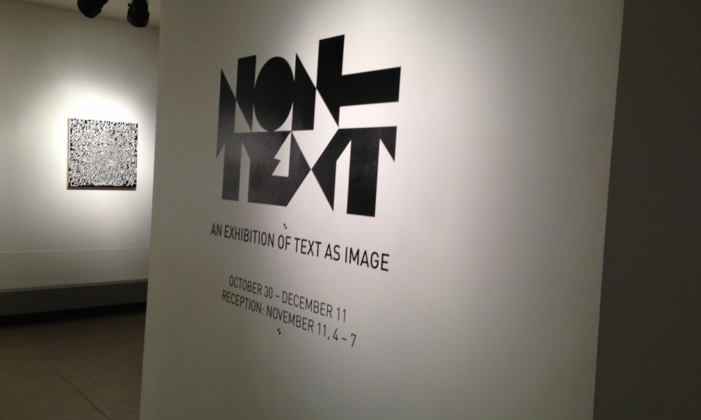 Work shown in Non-Text exhibition