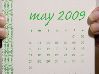 Collaborative Letterpress Calendar