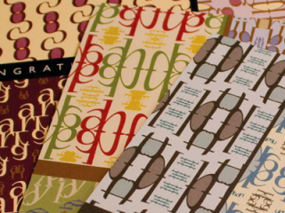 Patterned Response Greeting Cards