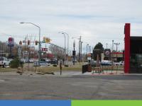 Street of fast food restaurants